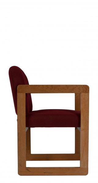 Burgundy Fabric Guest Chair CHR006845