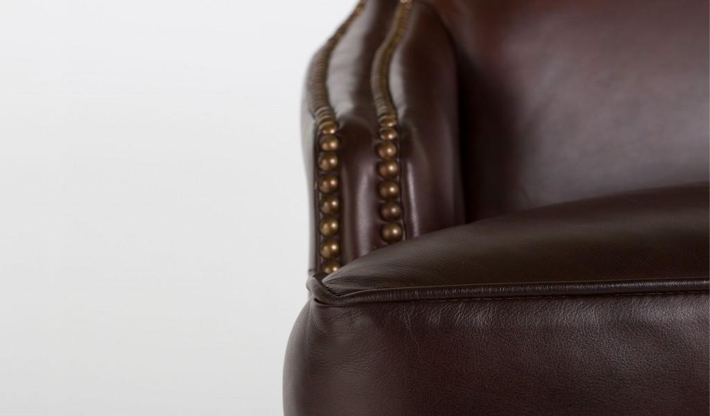 Dark Brown Leather Guest Arm Chair CHR006849