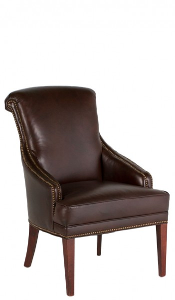 Dark Brown Leather Guest Arm Chair CHR006849