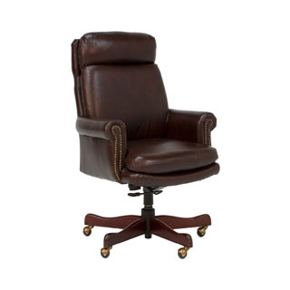 Dark Brown Vinyl Executive High-Back Swivel Chair CHR006850