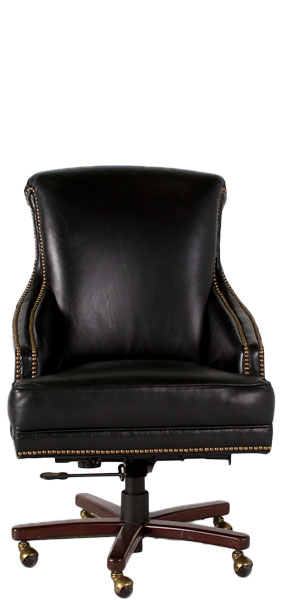 Black Vinyl Executive High-Back Swivel Chair CHR006851