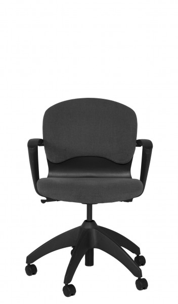 Grey Fabric Mid Back Office Chair CHR006998 Arenson Office Furnishings