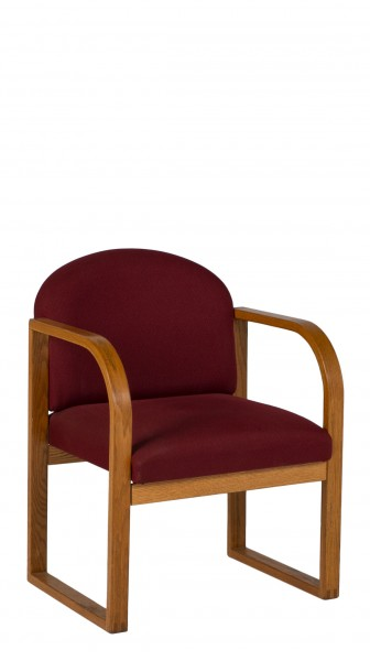 Burgundy Fabric Guest Chair CHR007068