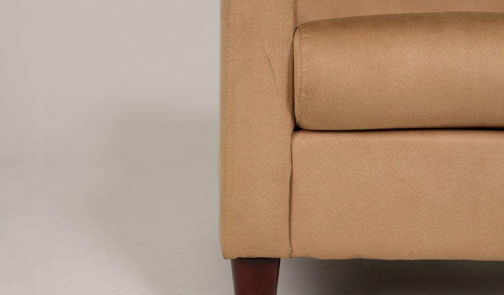 """73""""w x 32""""d Tan Microfiber Sofa SOF007809"""