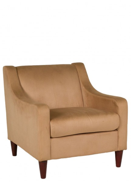 Tan Microfiber Club Chair CHR007812
