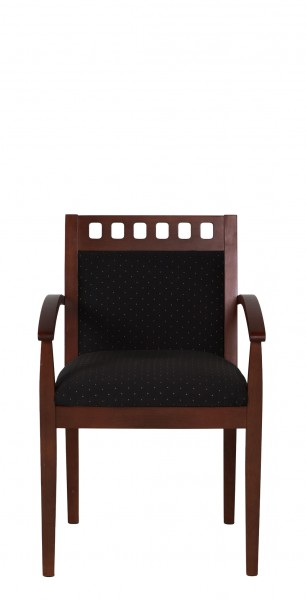 Black Patterned Fabric Guest Arm Chair CHR007925
