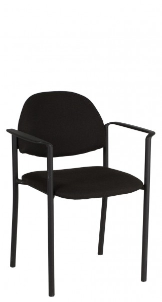 Black Fabric Stacking Chair CHR009361