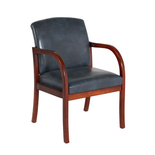 Blue Vinyl Guest Chair CHR010981