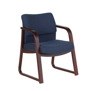 Dark Blue Fabric Guest Chair CHR011149