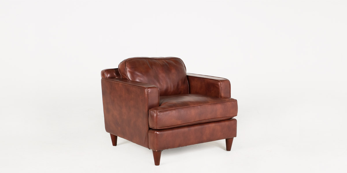 Nutmeg Brown Leather Club Chair CHR011153