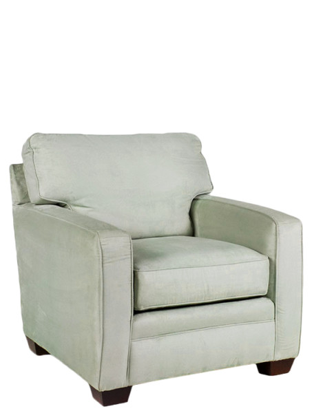 Light Green Microfiber Club Chair CHR011172