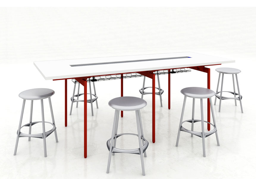 antenna workspaces standing-height table - arenson office furnishings
