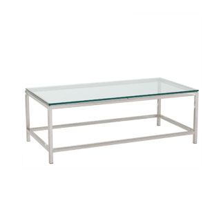 "48""w x 24""d Modern Glass Coffee Table TBL005726"