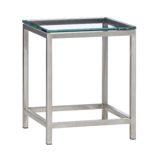 "18""w x 18""d Modern Glass Side Table TBL005801"