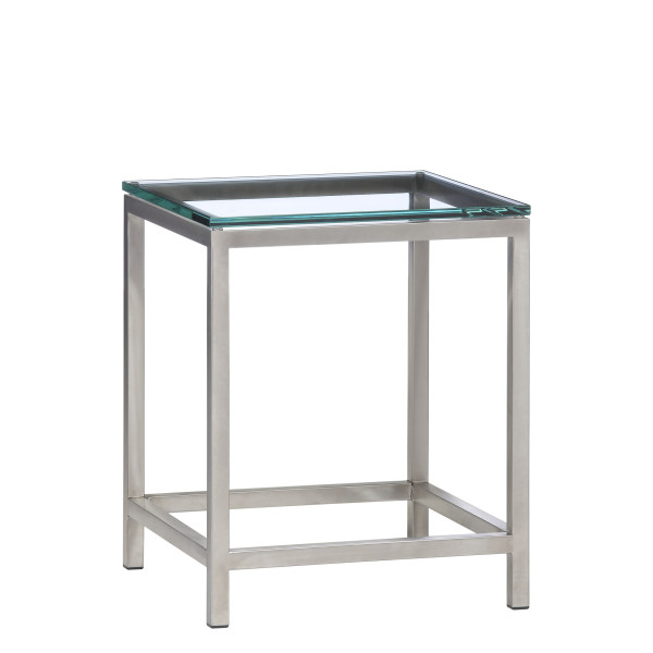 18″w x 18″d Modern Glass Side Table TBL005801