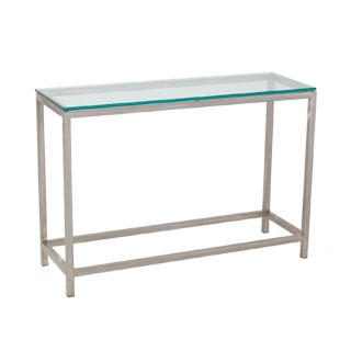 "42""w x 14""d Modern Glass Console Table TBL008912"