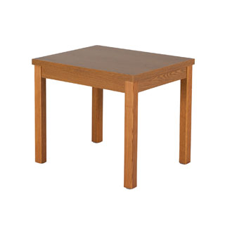 "24""w x 20""d Medium Oak Laminate Side Table TBL009258"