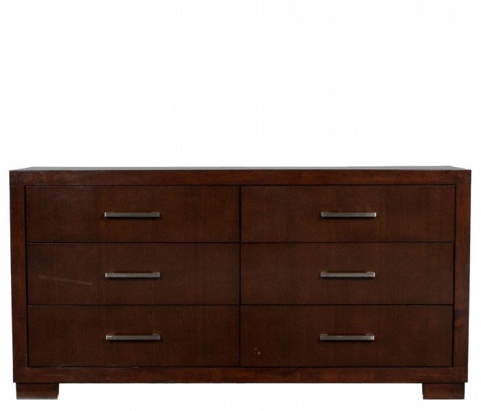 "64""w x 17""d Dark Walnut Dresser BED012174"