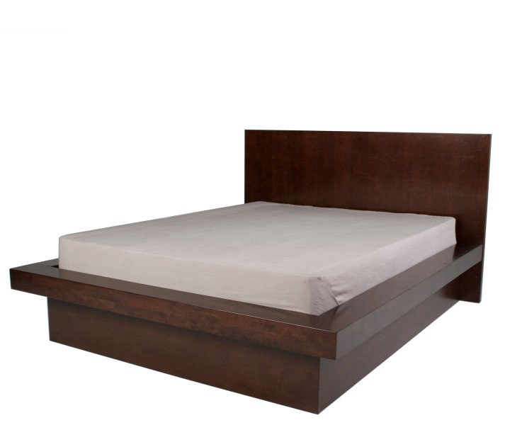 "83""w x 81""d Dark Walnut Queen Bed BED012407"