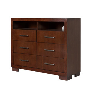 "48""w x 17""d Dark Walnut Media Cabinet BED012408"