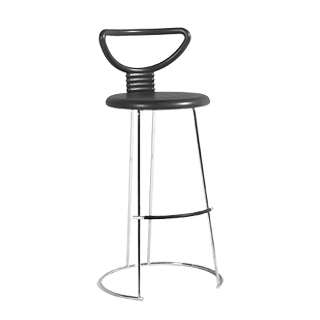 Black Rubber Bar Stool CHR002597