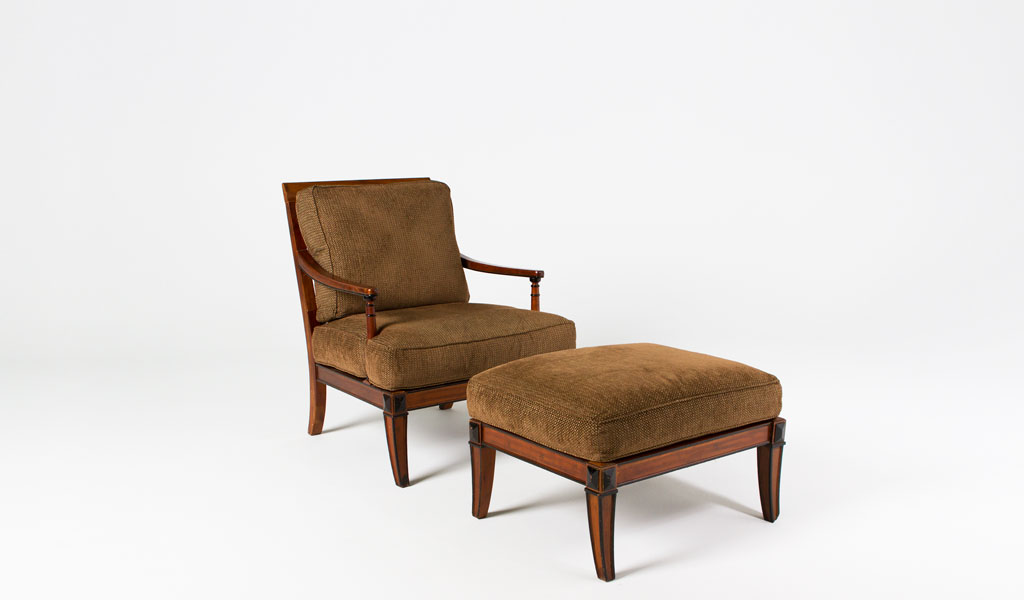 Walnut Biedermeier Lounge Chair CHR003251