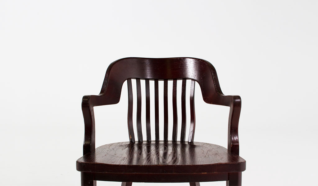 Mahogany Courtroom Guest Chair CHR003303