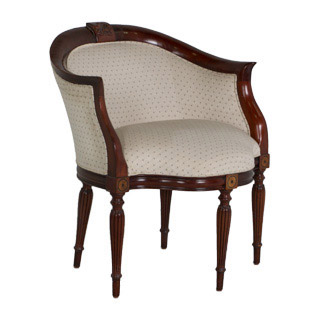 Walnut Framed Club Chair CHR004549
