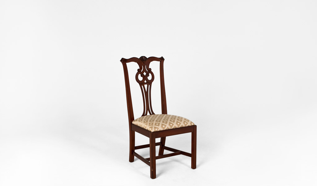 Antique Cherry Chippendale Side Chair CHR005571