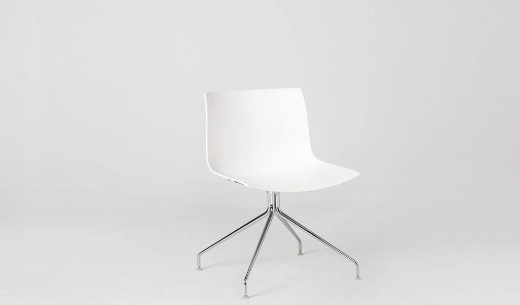 White Poly Shell Side Chair CHR006134