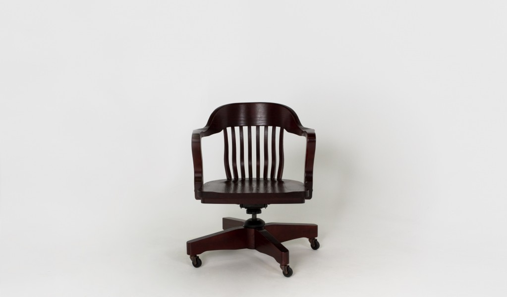 Mahogany Mid-Back Swivel Chair CHR006403