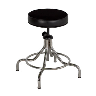 Black Vinyl Backless Task Stool CHR006437