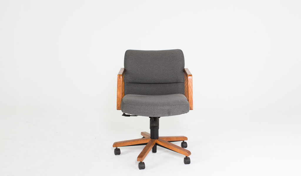 Grey Fabric Mid-Back Office Chair CHR006776