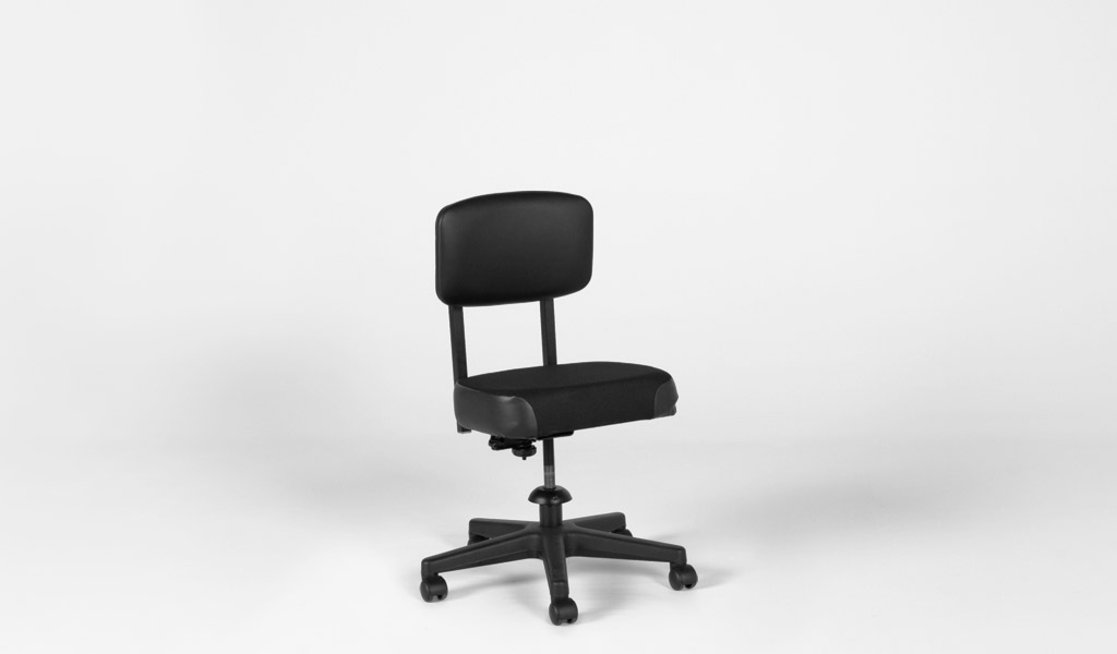 Black Vinyl Vintage Task Chair CHR008163