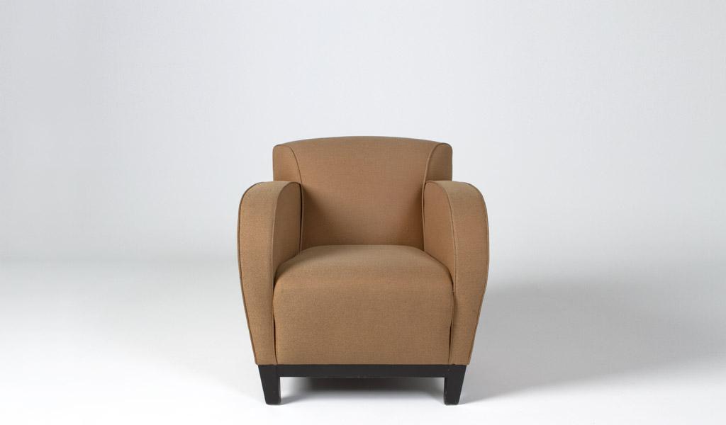 Tan Fabric Club Chair CHR008177