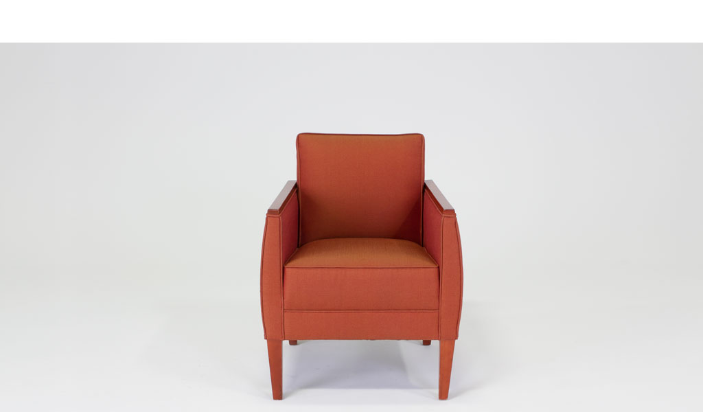 Red Tweed Club Chair CHR008466