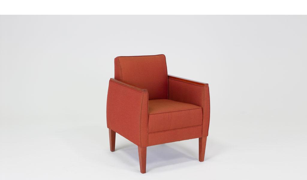 Red Tweed Club Chair CHR008466