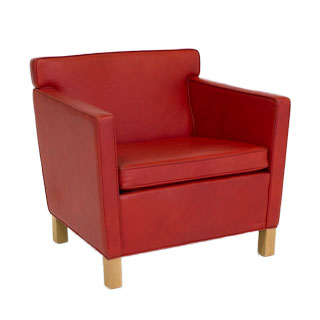 Red Leather Club Chair CHR008871
