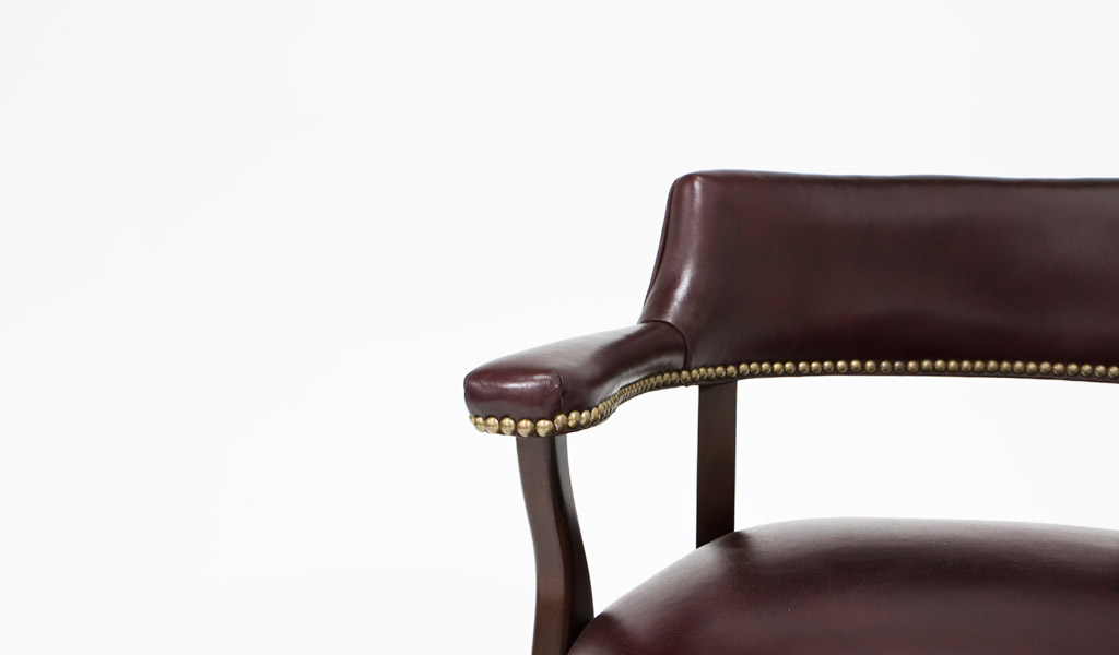 Oxblood Leather Traditional Barstool CHR009277