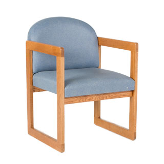 Blue Vinyl Guest Chair CHR011958