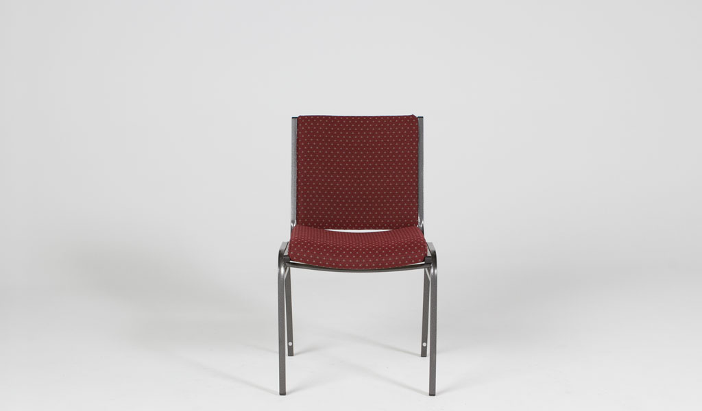 Burgundy Fabric Stack Chair CHR012926