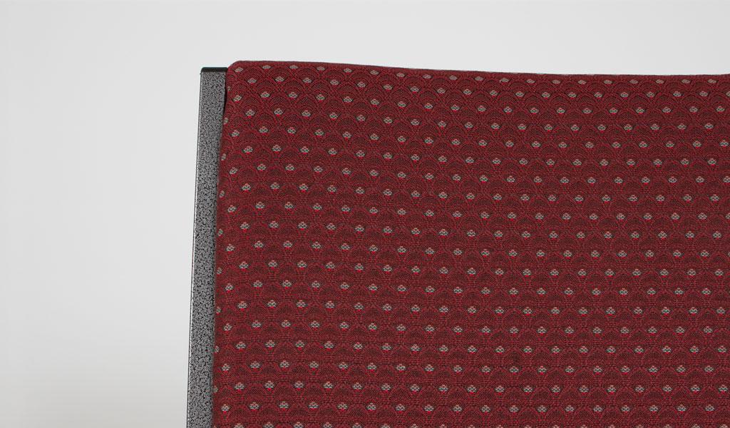 Burgundy Fabric Stack Chair CHR012926