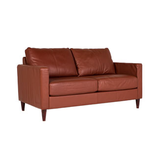 "58""w x  34""d Saddle Leather Loveseat LVS006364"