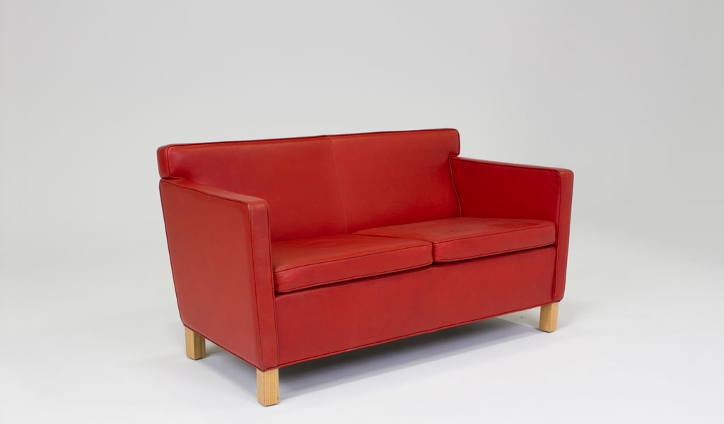 57 w x red leather loveseat lvs008870 arenson for W furniture rental brussels