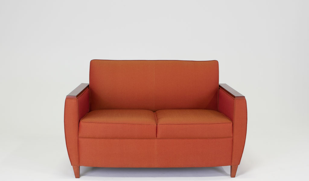 "54""w x 25.5""d Red Tweed Loveseat LVS008873"