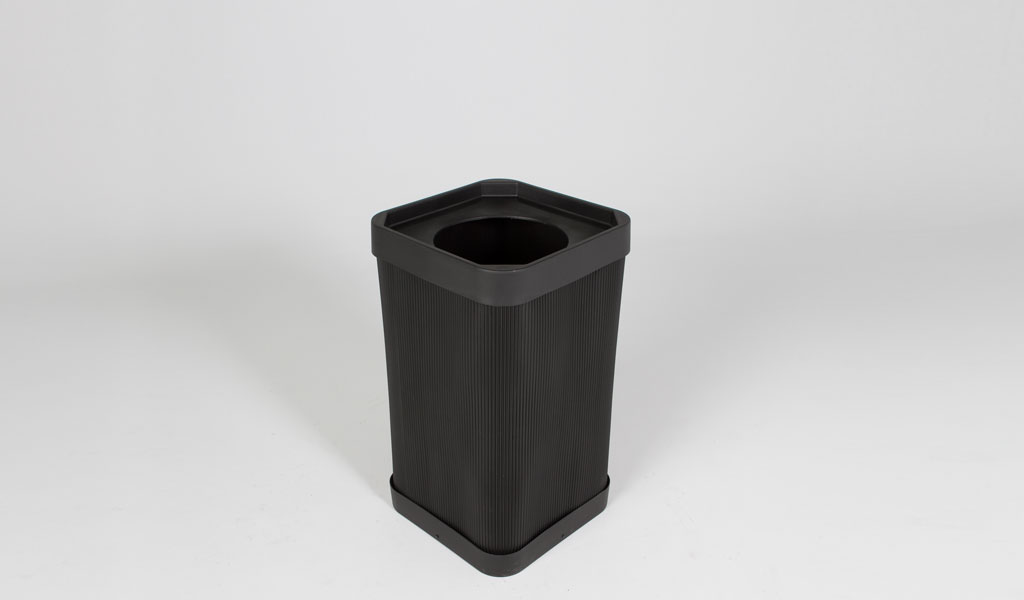 "32""h Black Waste Receptacle MIS012945"