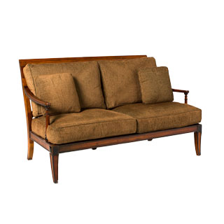 "62.5""w x 34""d Walnut Biedermeier Sofa SOF002179"