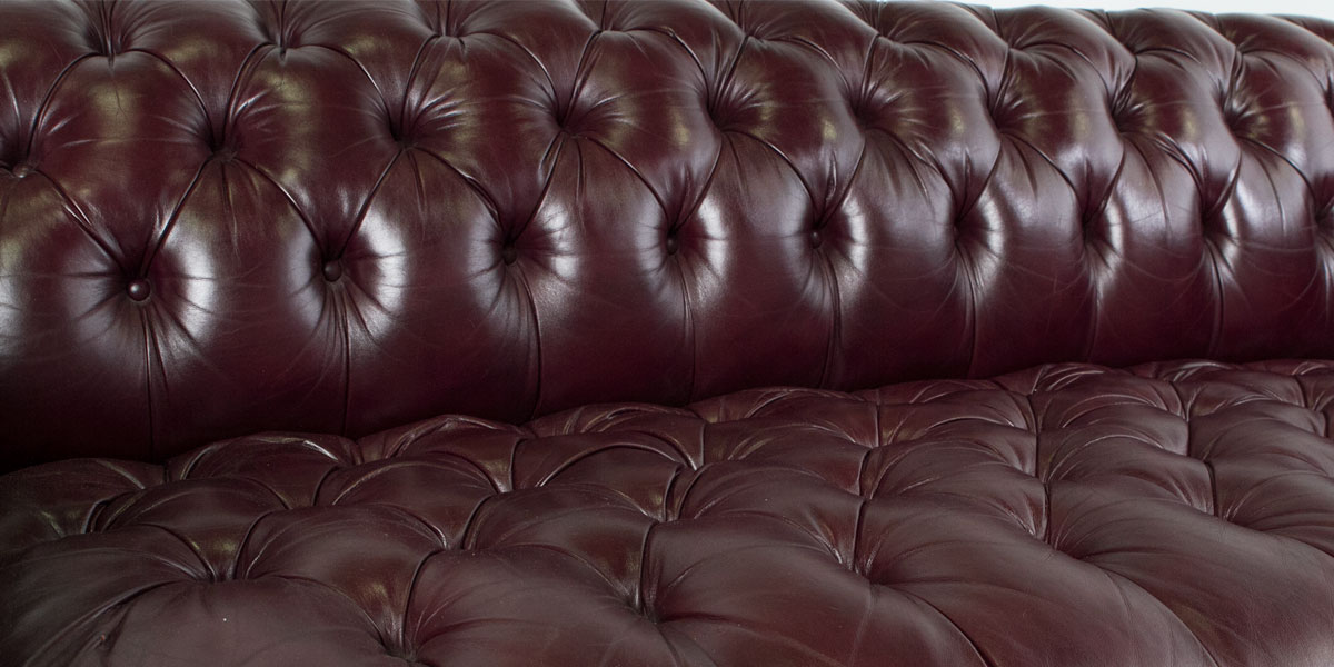 "78""w x 36""d Blackberry Leather Chesterfield Sofa SOF004813"