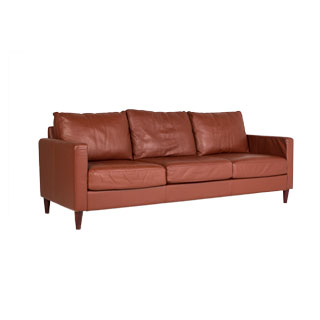 "89""w x 35""d Saddle Leather Sofa SOF006363"