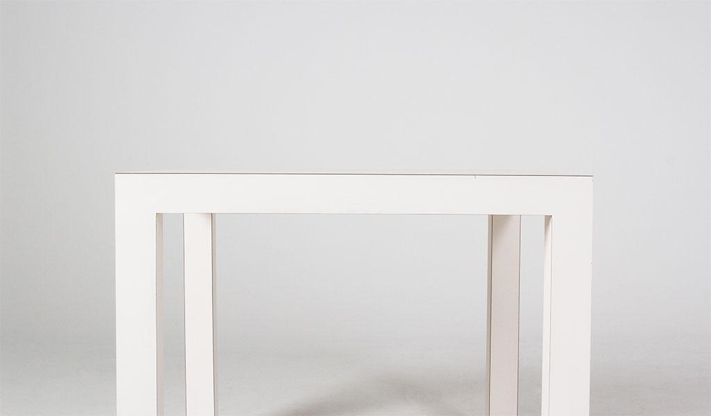 "36""w x 36""d White Laminate Café Desk TBL011465"